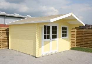 Gartenhaus mit 34mm Wandstärke
